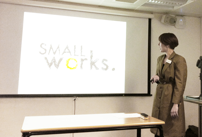 Alice lecturing at King's College